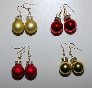 Christmas earrings - if only I had my ears pierced still