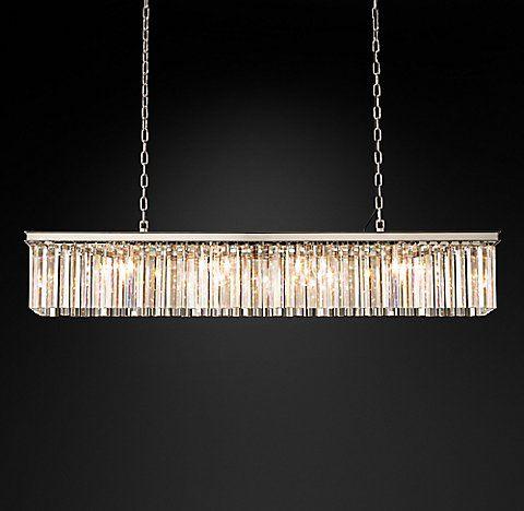 Rhys Glass Prism Chandelier Collection Rh Rectangular
