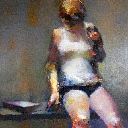 Lifted, Paul W Ruiz, 2010, oil on linen, 100 x 100 cm