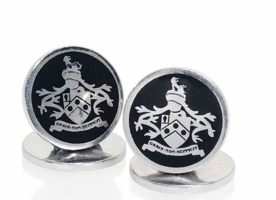 James Bond's Coat of Arms from Skyfall ~Cufflinks By Tom Ford *Orbis Non Sufficit*: The World is Not Enough