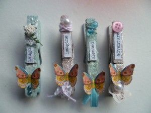 Altered clothes pins....so cute.