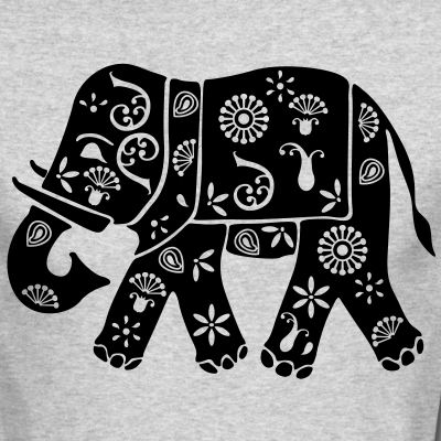 Motif Elephant Inde Tee shirts manches longues Personnaliser le motif Elephant indien Inde