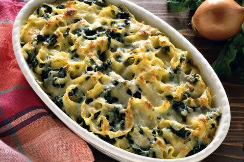 Tagliatelle gratinate agli spinaci