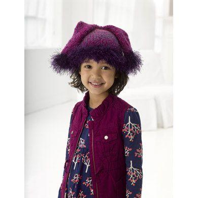 Double Tail Hat in Lion Brand Fun Fur - L20607 | Knitting Patterns | LoveKnitting