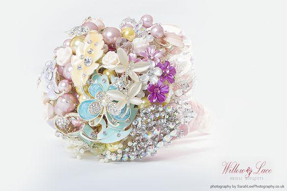 Gorgeous pastel brooch bouquet willowandlace.co.uk