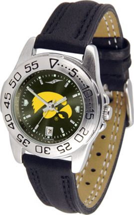 Iowa Hawkeyes Sport AnoChrome Ladies' Watch with Leather Band