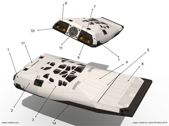 Interstellar Ranger Spacecraft Paper Model   Mock up ...