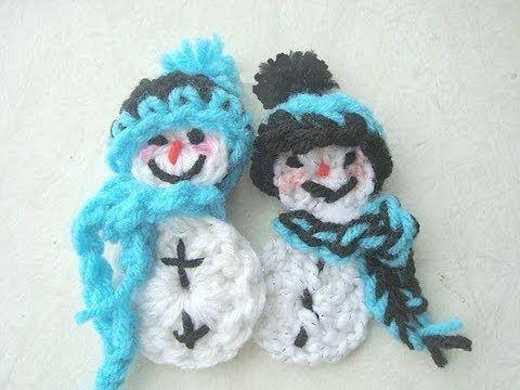 Free CROCHET A SNOWMAN ORNAMENT. Pattern