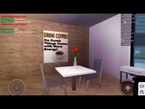 Touring A Cafe Roblox Bloxburg Youtube Furniture Hacks Diy Bbq House Design Kitchen
