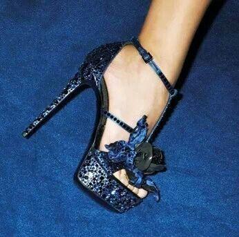 Sexy Blue Heels  Tsaa Heel