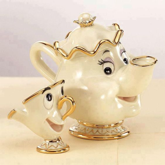 Mrs. Potts & Chip  http://www.lovedesigncreate.com/lenox-disney-showcase-mrs-potts-chip/