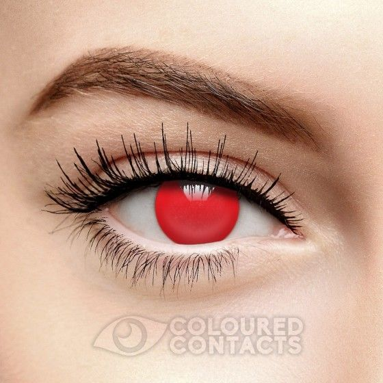 Red Blind 90 Day Coloured Contacts Full Eye Vampire Demon Lens Contact Lenses Colored Colored Contacts Color Contacts For Halloween