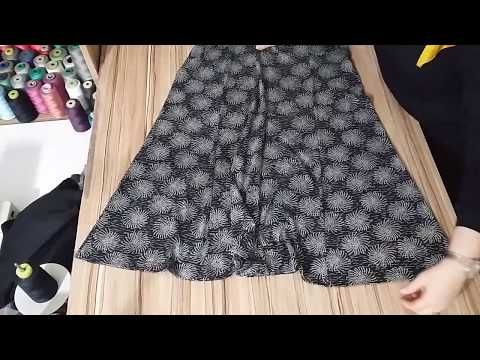 Pratik Tunik Dikimi Arkasi Uzun Tunik Nasil Kesilir Dikilir Youtube Etek Dikis Giyim