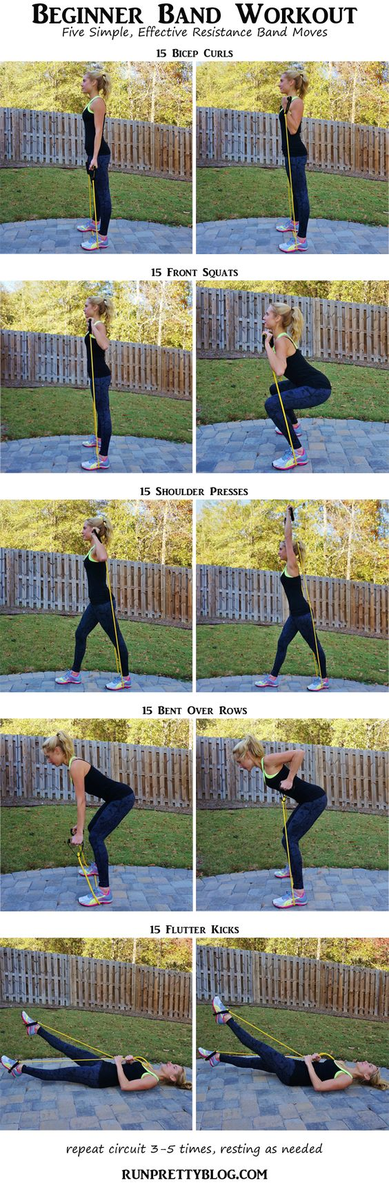 Resistance Band Workout via Run Pretty