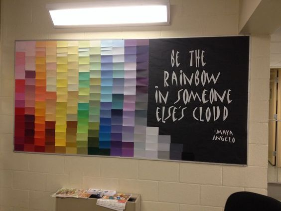 Cool Middle School bulletin board made with paint sample cards. Description from pinterest.com. I searched for this on bing.com/images