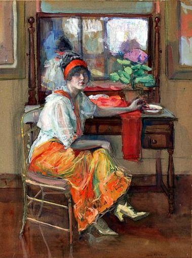 Jane Peterson, Self Portrait, 20th century.: