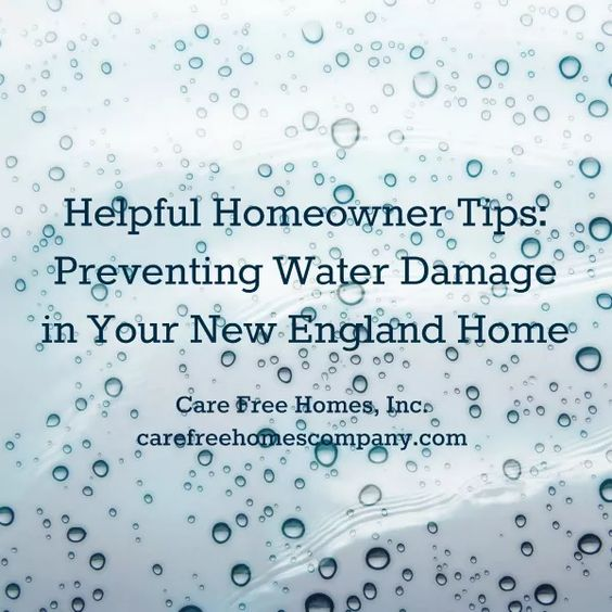Preventing Water Damage in Your New England Home