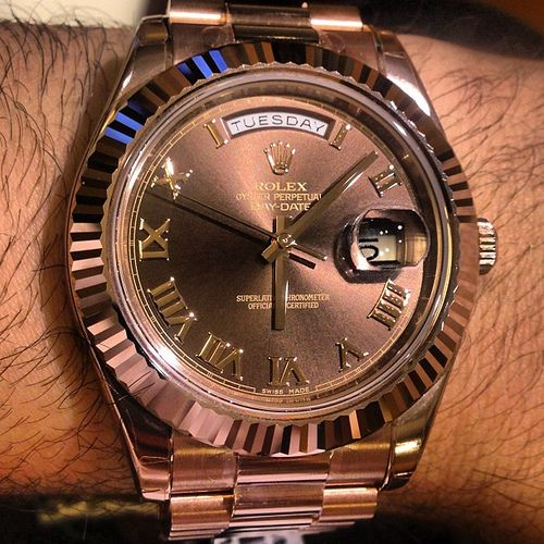 Rolex day date ii president watch in solid 18k rose gold 41mm wide case so much better for Watches better than rolex