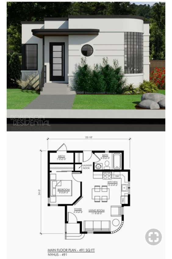 18 Small House Designs With Floor Plans House And Decors Small House Design House Design House Floor Plans