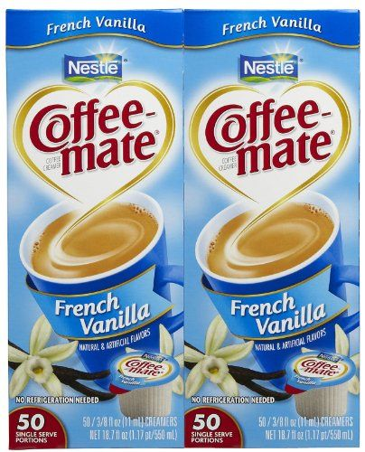 Coffee-mate Liquid Creamer Singles - French Vanilla - 50 ct - 2 pk *** See this great product @ http://www.amazon.com/gp/product/B00KPVD4UC/?tag=lizloveshoes-20&pjk=210716000842