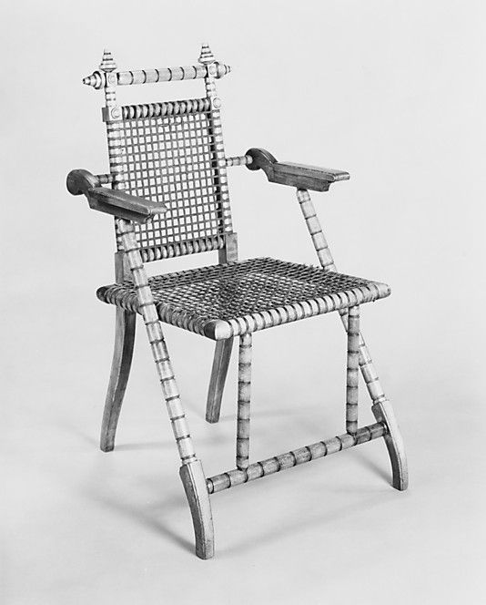 Folding Armchair George Jakob Hunzinger 1835 1898 Date After 1876 Geograph