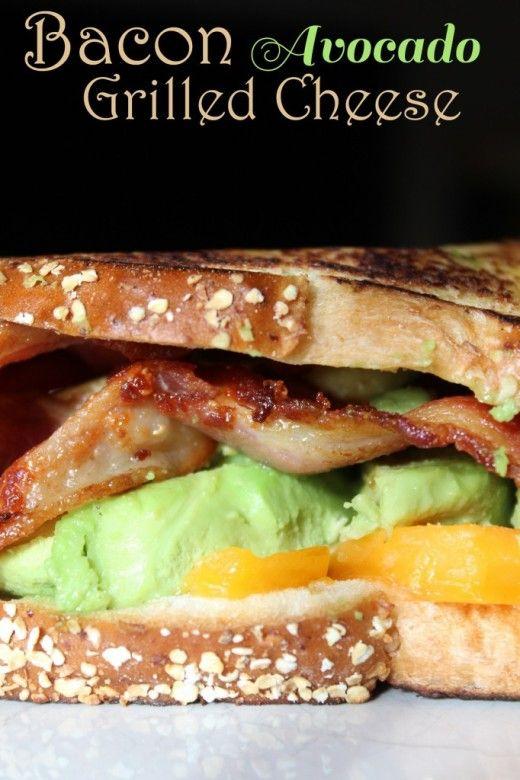 Bacon Avocado Grilled Cheese Sandwich Recipe