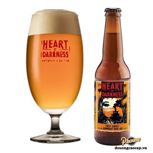 Bia Heart Of Darkness First Sunset Kumquat Pale Ale 4.8% - Chai 330ml - Bia Thủ Công TPHCM