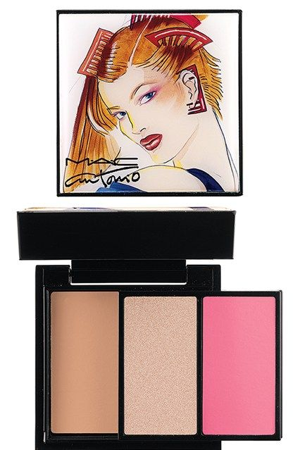 Supermodels Marisa Berenson, Jerry Hall, and Pat Cleveland for MAC Cosmetics' upcoming makeup collection paying homage to fashion illustrator Antonio Lopez  MAC Antonio Lopez Face ($46)