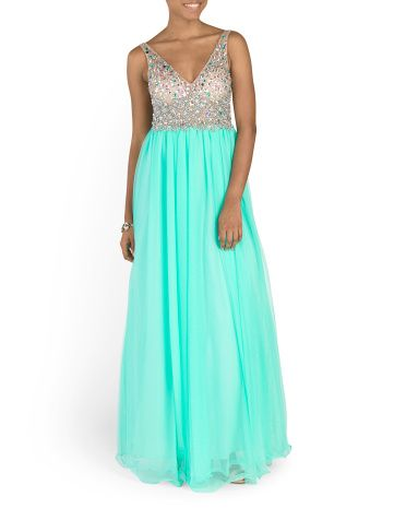 Juniors+Embellished+Ball+Gown