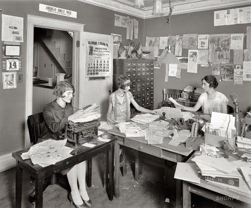 Vintage Office Work (500×415) | Vintage Pictures | Pinterest | Vintage  Office