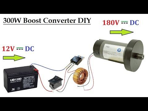 12v Ups Battery To 180v Dc Converter For Dc Motor Upto 300w Dc To Dc Voltage Boost Circuit Youtube Free Energy Generator Circuit Ups Batteries