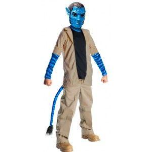 Déguisement avatar jake sully enfant garçon avec masque avatar sous licence officielle avatar.