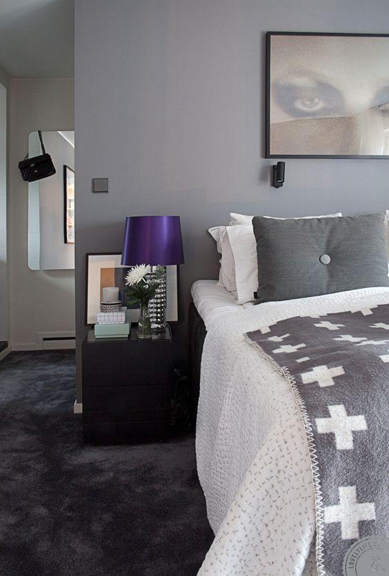 Dormitorios en gris, blanco y negro... ¡con diferentes estilos! | Decorar tu casa es facilisimo.com