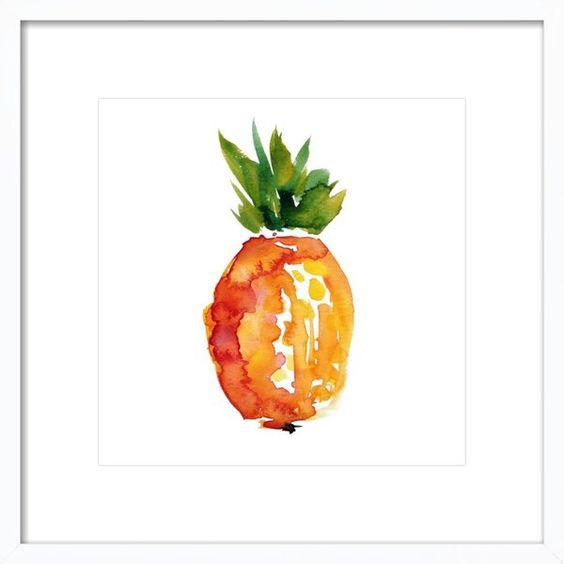 Artfully Walls Island Pineapple Art Print, Artfully Walls