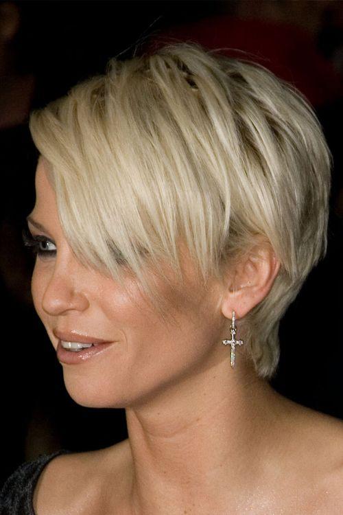 sarah harding   Sarah Harding Straight Bleach Blonde Hairstyle   Steal Her Style