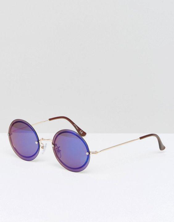 Immagine 1 di Jeepers Peepers - Occhiali da sole rotondi con lenti blu
