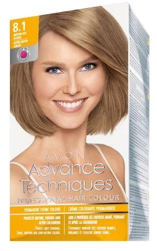 Avon Advance Techniques Sac Boyasi 8 1 Koyu Kullu Sari Sac