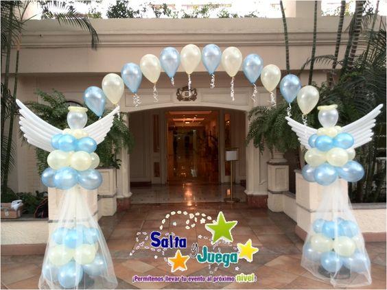 Balloon decorations balloons and arches on pinterest - Decoracion primera comunion ...