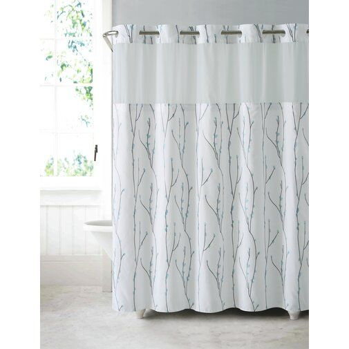 Cherry Bloom Shower Curtain Curtains Hookless Shower Curtain