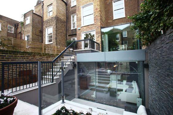 Peek architecture design chelsea townhouse basement for Terrace extension