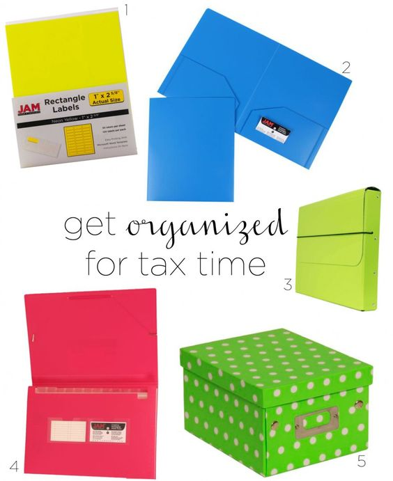 Tips on how to organize your taxes products available at www.jampaper.com