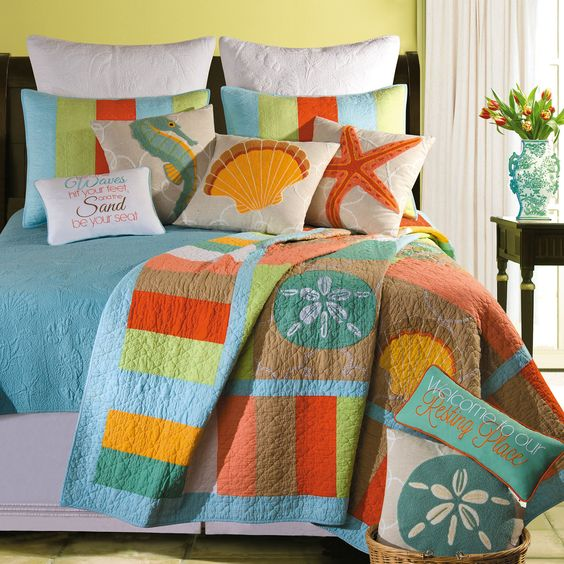 Nautical Themed Bedding And Curtains: Home > Washed Ashore Beach Themed