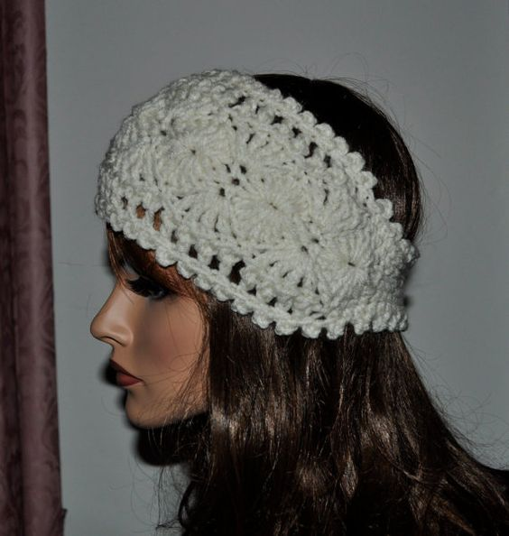 Free Crochet Pattern For Ladies Headband : For women, Patterns and Cream on Pinterest