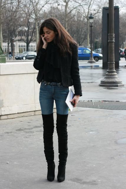 The Look: Thigh High Boots - Outfit ideas | Pinterest - Hoge
