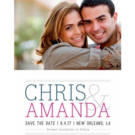 Feature Names Standard Save the Date, Gray