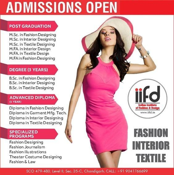 Iifd Admissions Open 2020 21 Limited Seats Available Fashion Designing Course Fashion Courses Diploma In Fashion Designing