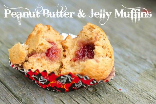 Jam-Filled Muffins aka Peanut Butter and Jelly Muffins