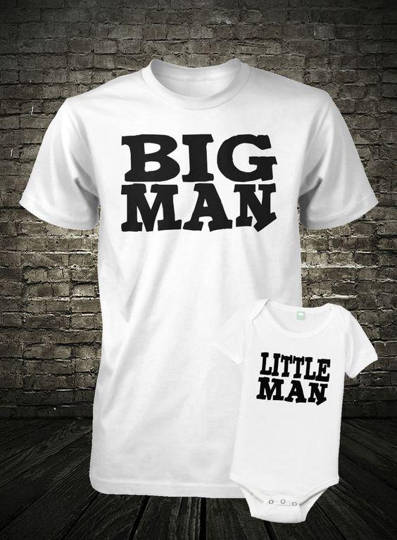 Father and Son Shirt Set Big Man Shirt Little Man Shirt Combo Fathers Day Shirt