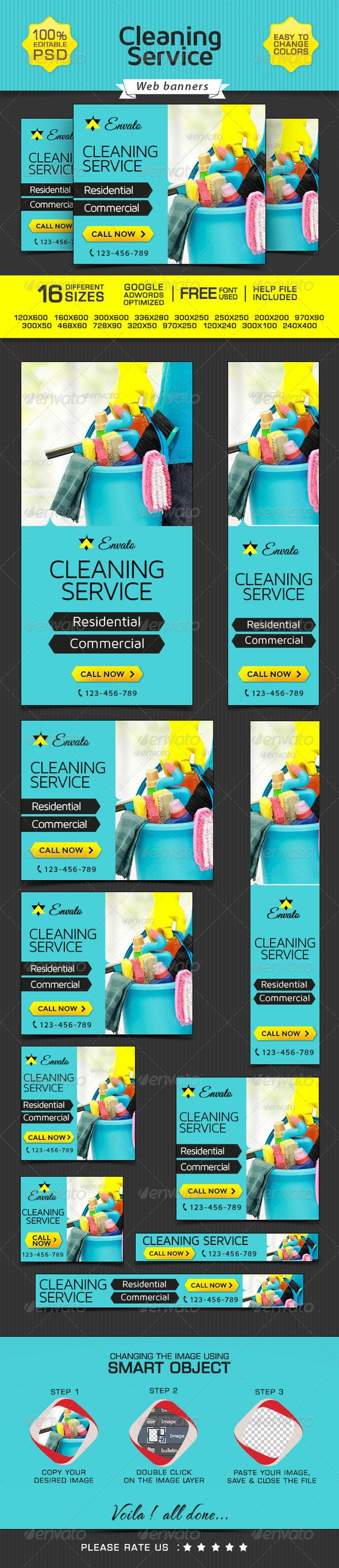 banner design for cleaning company cleaning company banner and buy banner design for cleaning company by doto on graphicriver promote your products and services related to cleaning niche this great looking banner
