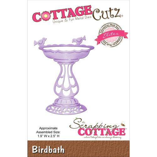Oozak.com | CURRENT PRE-ORDERS | COTE209 | COTTAGE CUTZ Elites - Metal Craft Die, BIRDBATH